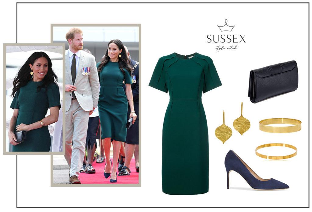 Meghan Markle wears a bottle green Jason Wu number for last royal engagement in Fiji