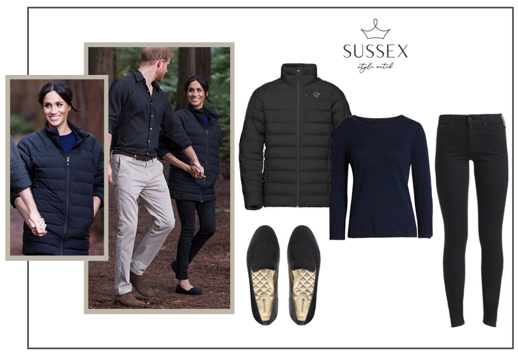 MEGHAN MARKLE BORROWS PRINCE HARRY'S PUFFER JACKET FOR FINAL OUTING ON ROYAL TOUR