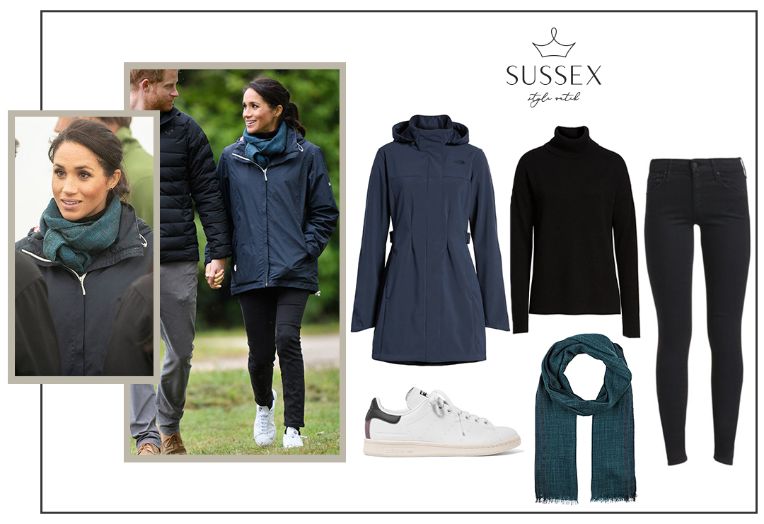 MEGHAN MARKLE WEARS STAN SMITH SNEAKERS VISITING ABEL TASMAN