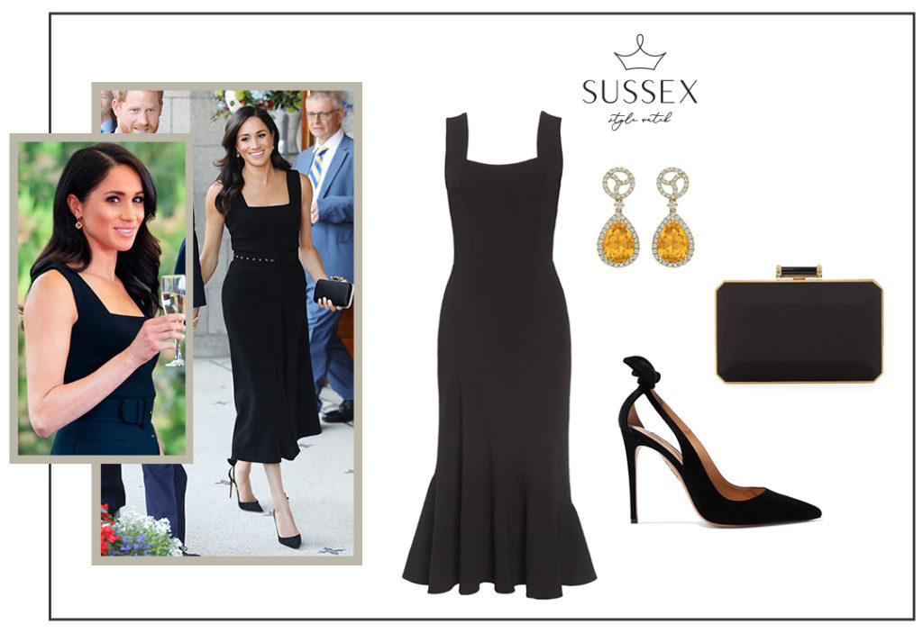 11+ Meghan Markle Emilia Wickstead Black Dress