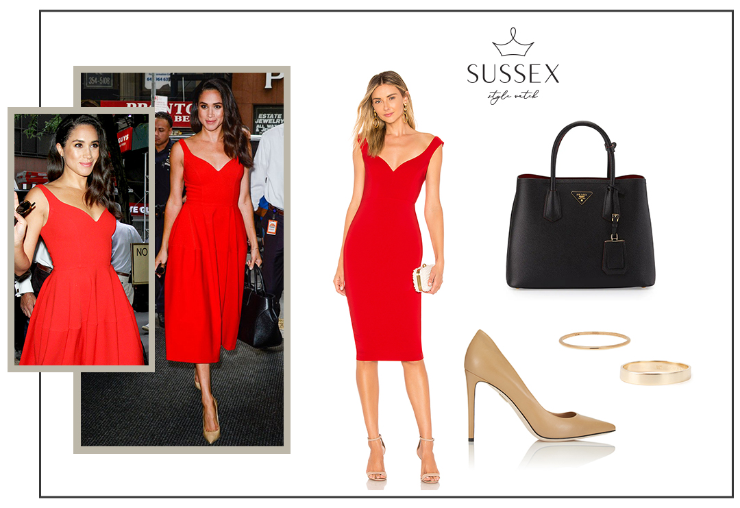 MEGHAN MARKLE WEARS RED JILL STUART DRESS FOR TODAY SHOW APPEARANCE