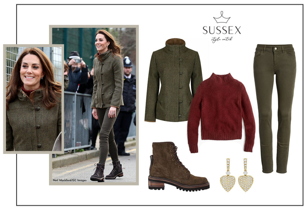 KATE MIDDLETON, DUCHESS OF CAMBRIDGE | VISITS COMMUNITY GARDEN IN DUBARRY TWEED JACKET
