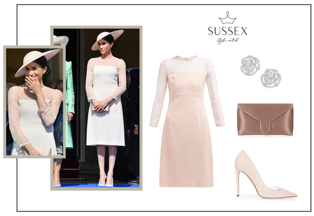 Meghan Markle wears Pale Pink GOAT Dress to Prince Charles' 70th Birthday Garden Party