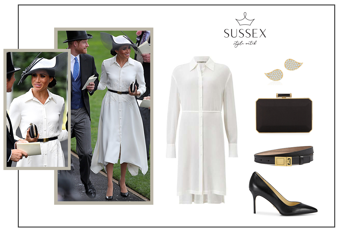 MEGHAN MARKLE WEARS GIVENCHY SHIRTDRESS TO ROYAL ASCOT