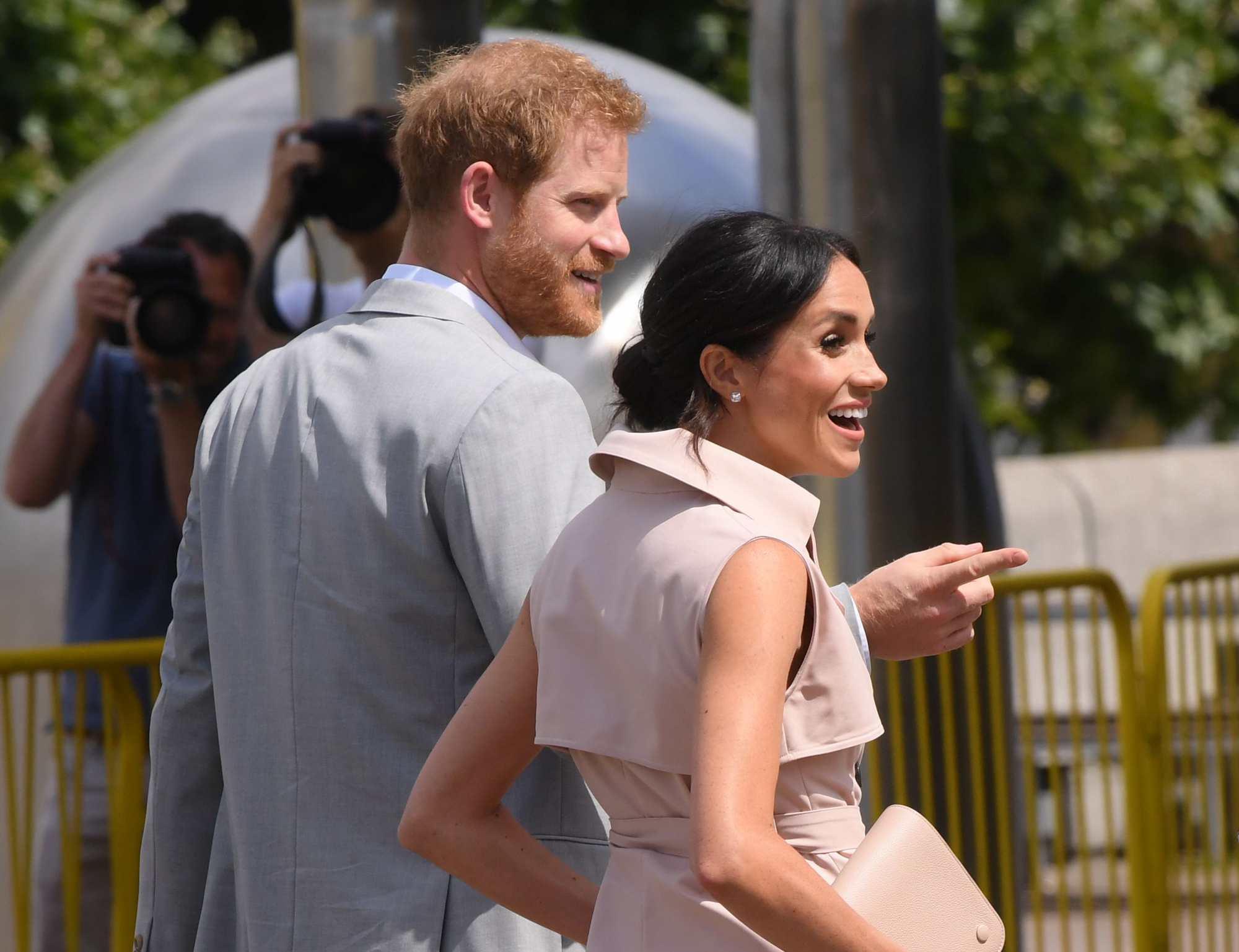 Mandatory Credit: Photo by David Fisher/REX/Shutterstock (9763414e) Meghan Duchess of Sussex and Prince Harry Nelson Mandela Centenary Launch, Southbank Centre, London, UK - 17 Jul 2018