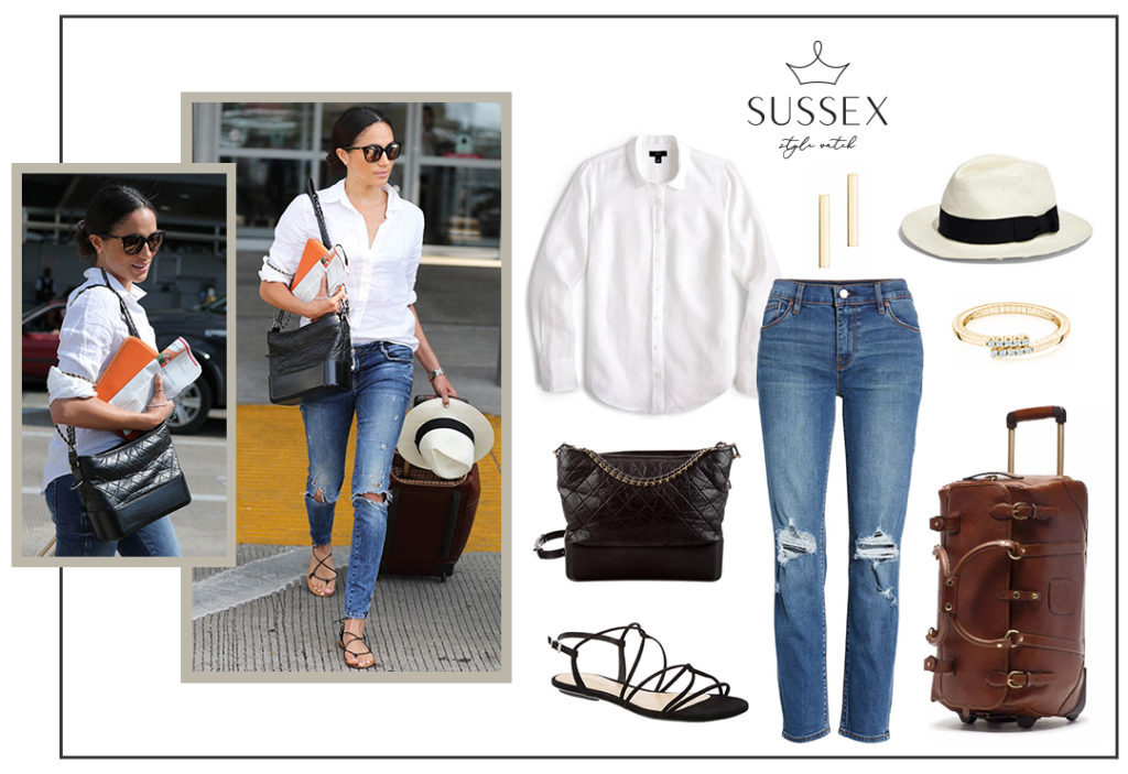 MEGHAN MARKLE TRAVEL STYLE // AUSTIN, TEXAS - CHANEL GABRIELLE HOBO BAG