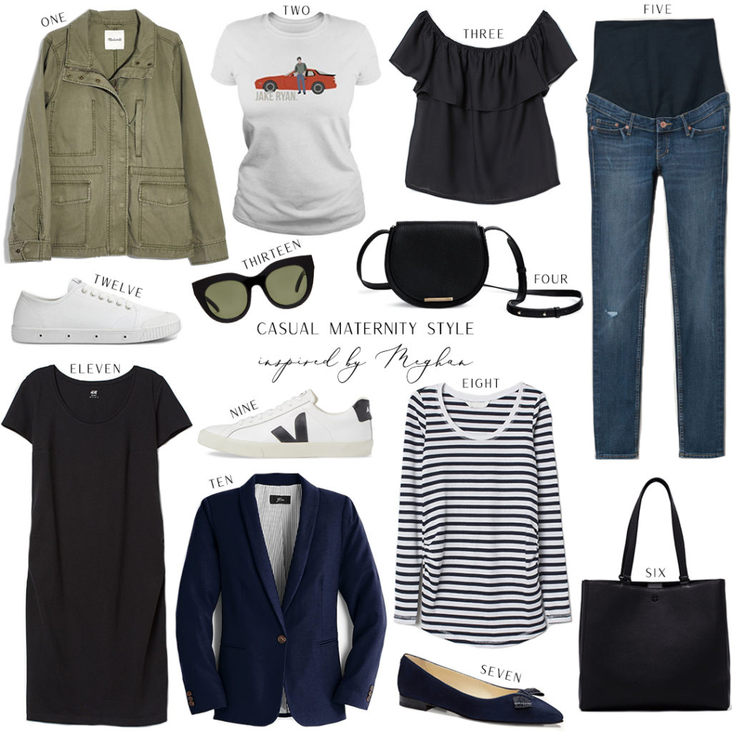 INSPIRED BY MEGHAN // CASUAL MATERNITY STYLE