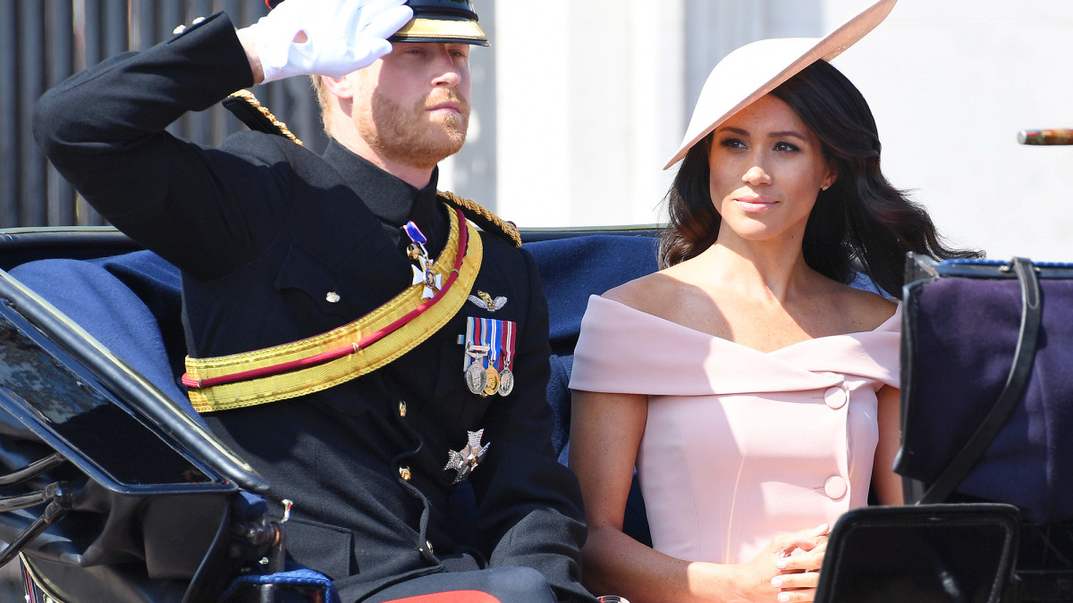 MEGHAN MARKLE TROOPING THE COLOUR OUTFIT