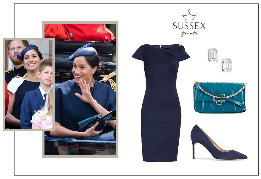 MEGHAN MARKLE WEARS BESPOKE GIVENCHY TO TROOPING THE COLOUR