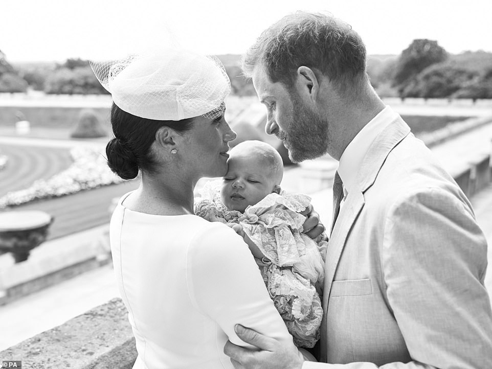 Meghan Markle Prince Harry // Archie Christening