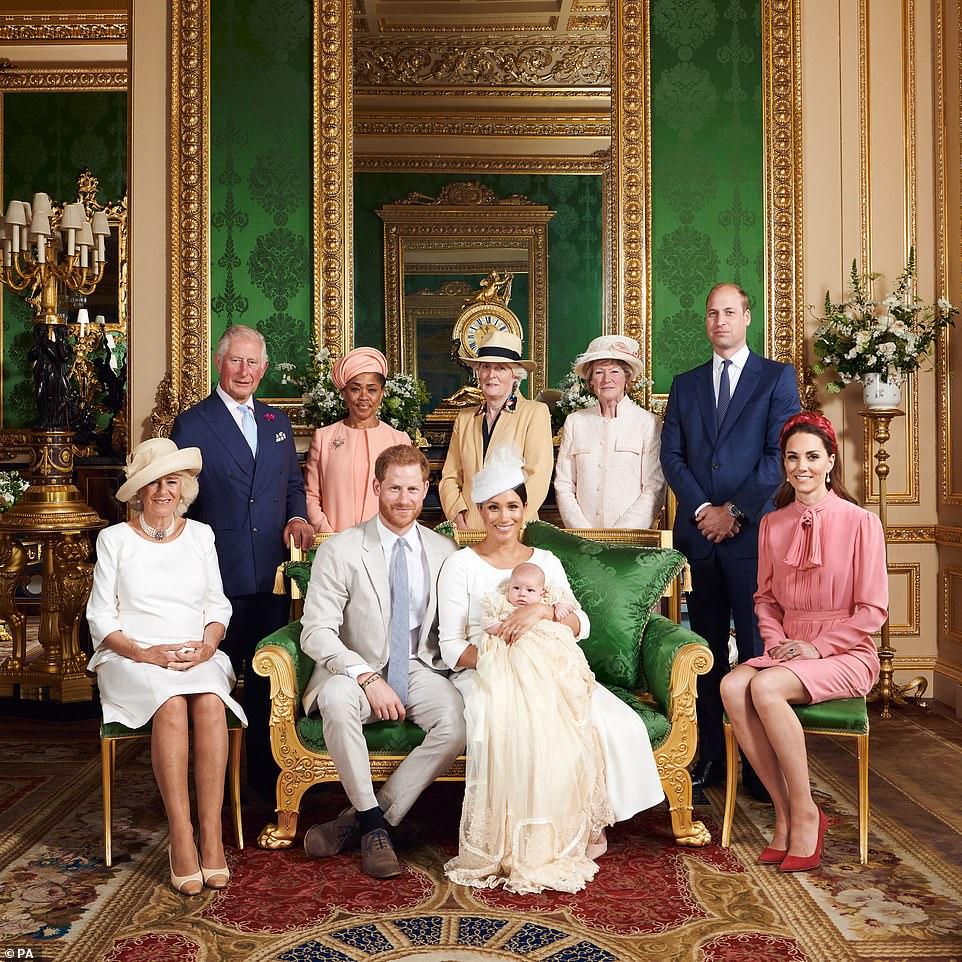 Meghan Markle Prince Harry // Archie Christening