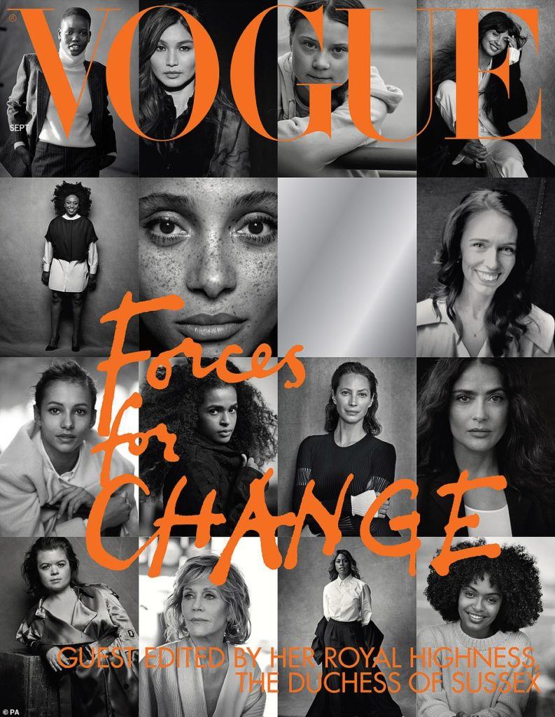MEGHAN MARKLE GUEST EDITS SEPTEMBER ISSUE OF BRITISH VOGUE