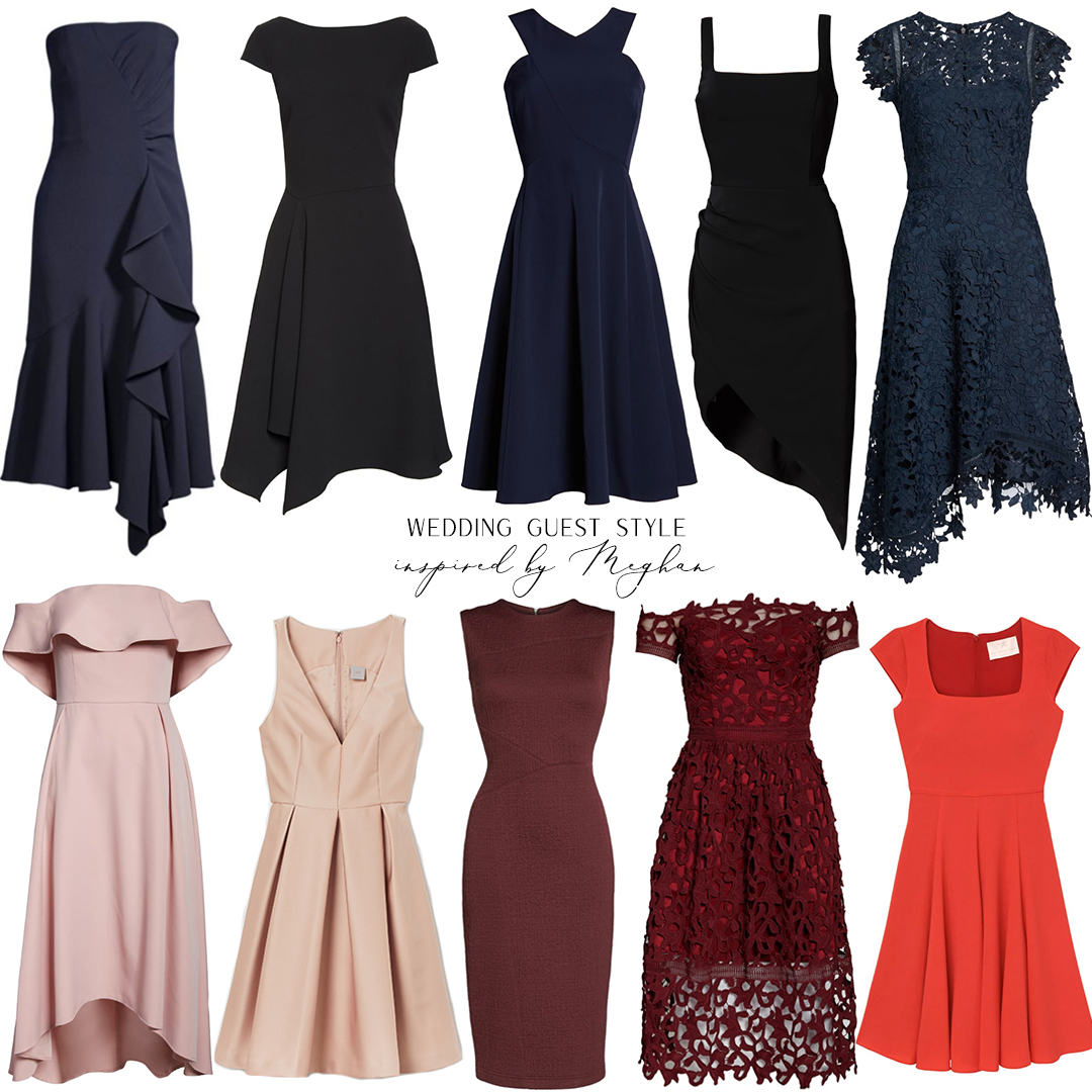 WEDDING GUEST STYLE INSPIRED BY MEGHAN MARKLE // COCKTAIL DRESSES