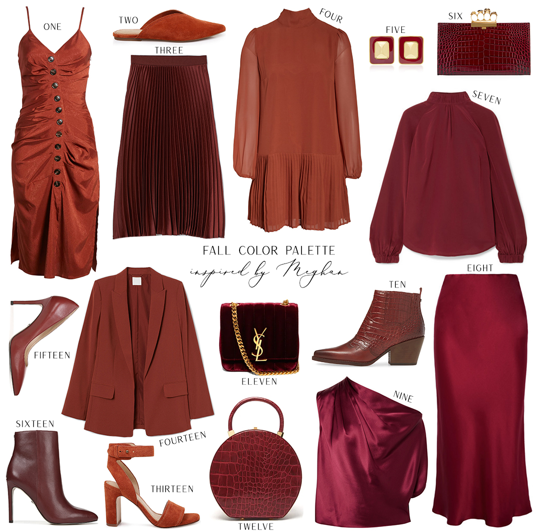 FALL STYLE COLOR PALETTE INSPIRED BY MEGHAN MARKLE