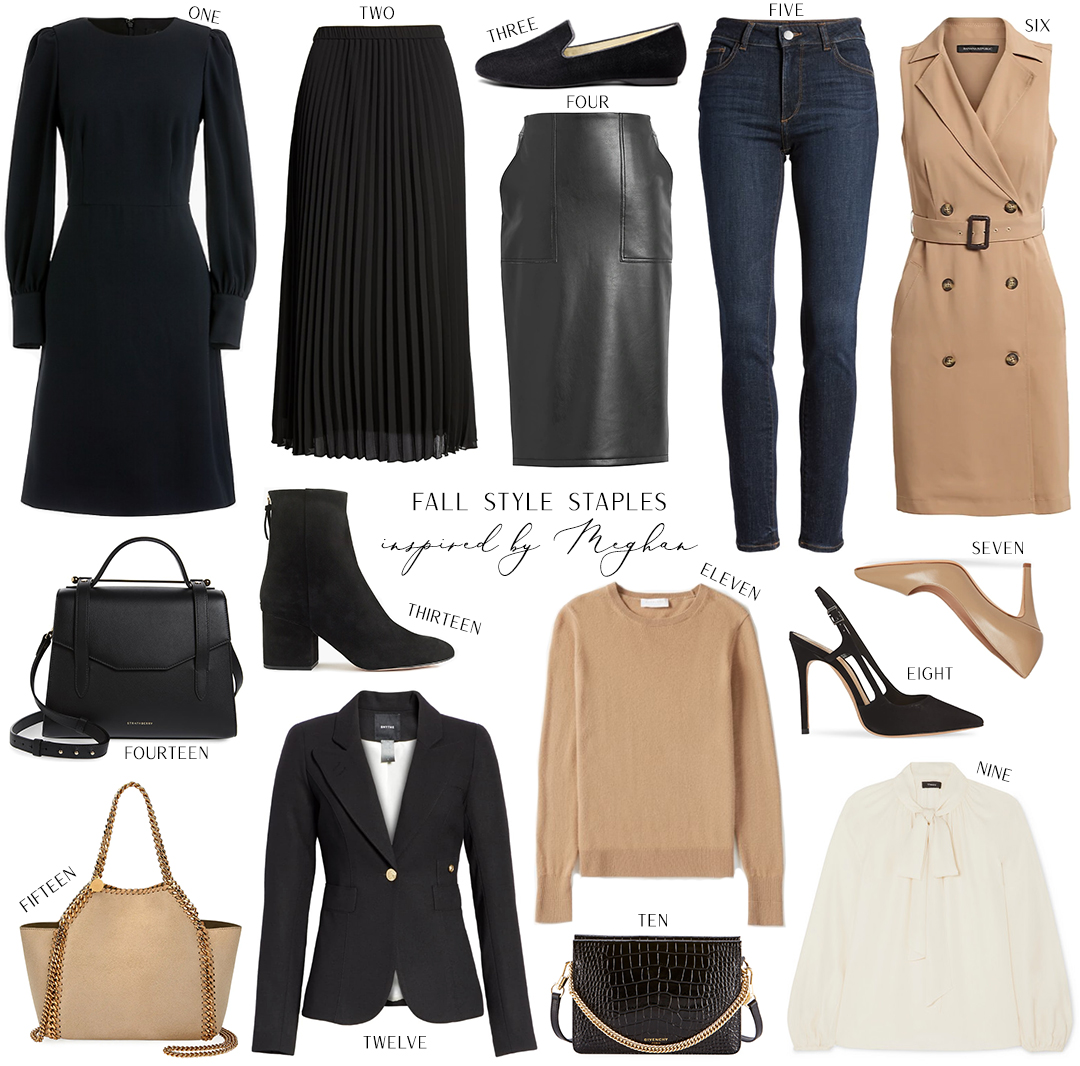 FALL STYLE STAPLES INSPIRED BY MEGHAN MARKLE