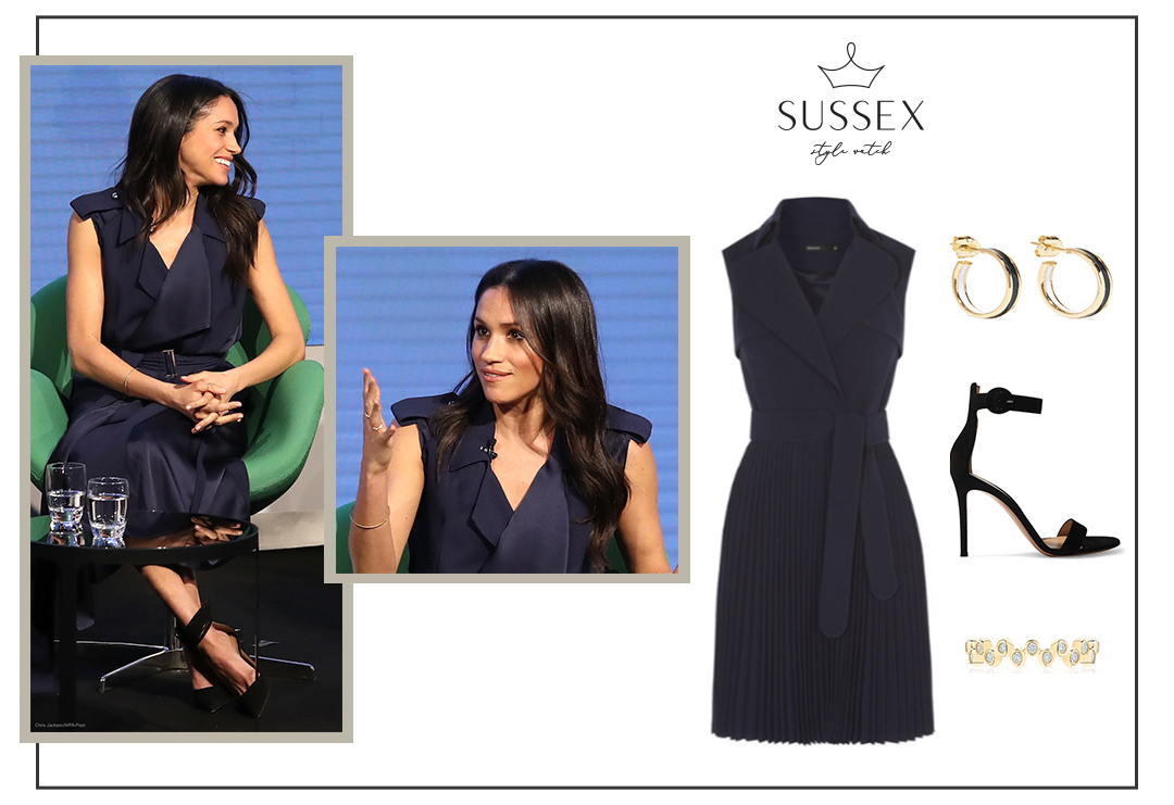 MEGHAN MARKLE WEARS NAVY TRENCH DRESS TO THE ROYAL FOUNDATION FORUM