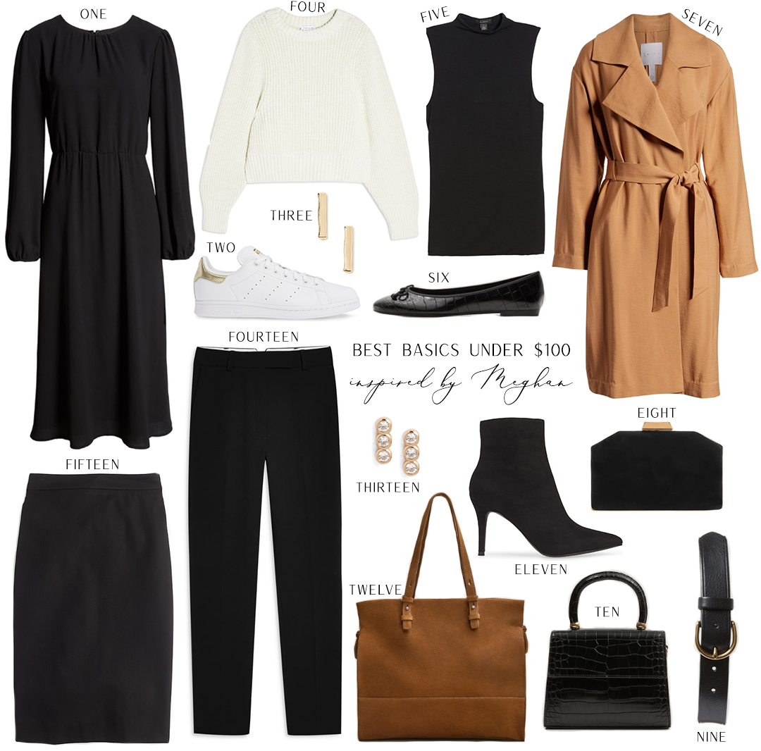 Inspired by Meghan Markle // Budget-friendly basics and neutral staples under $100