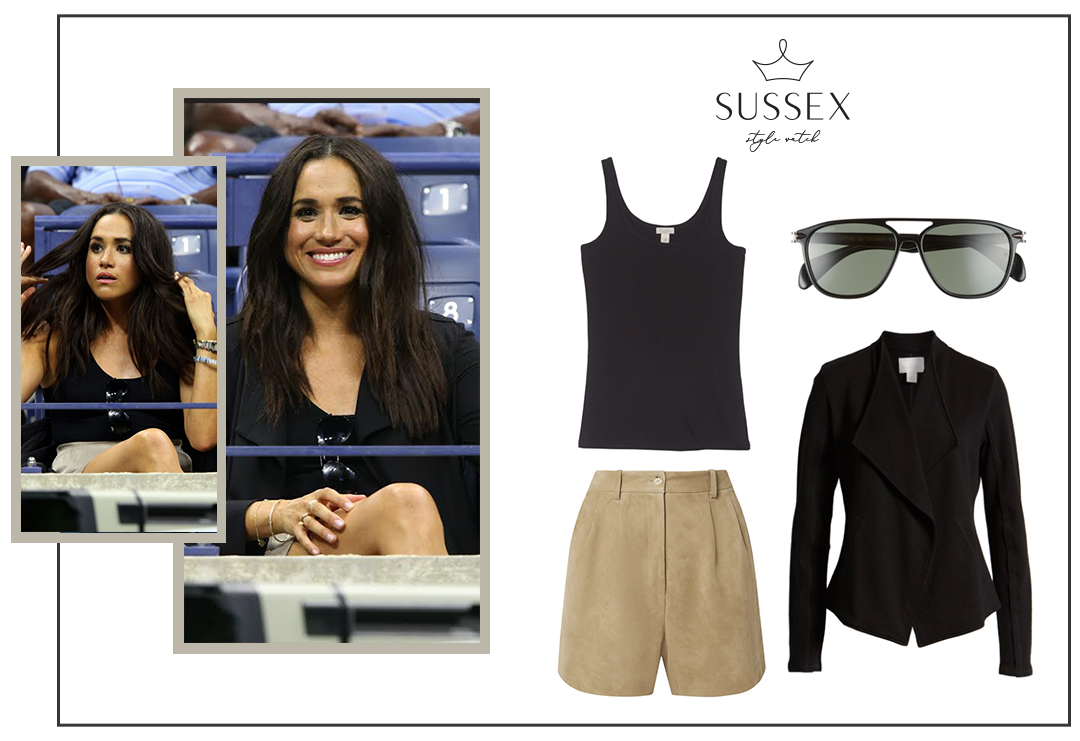 MEGHAN MARKLE WEARS CASUAL NEUTRAL BASICS TO 2016 US OPEN