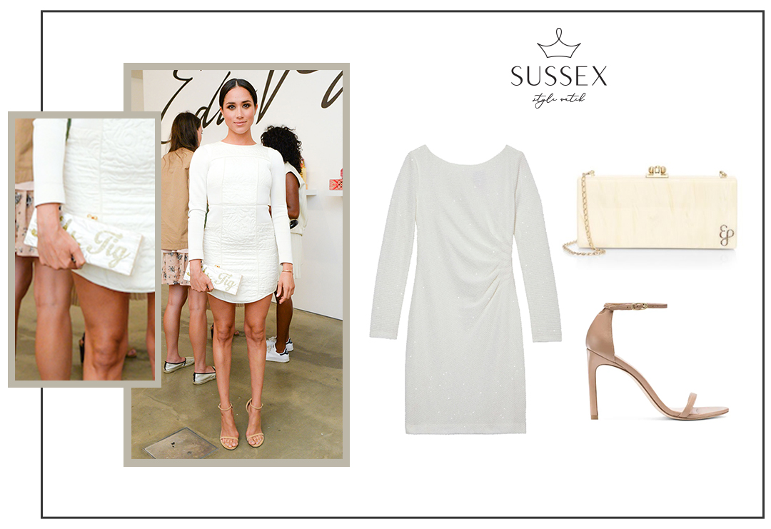 MEGHAN MARKLE WEARS WHITE TIBI DRESS TO EDIE PARKER EVENT 2014