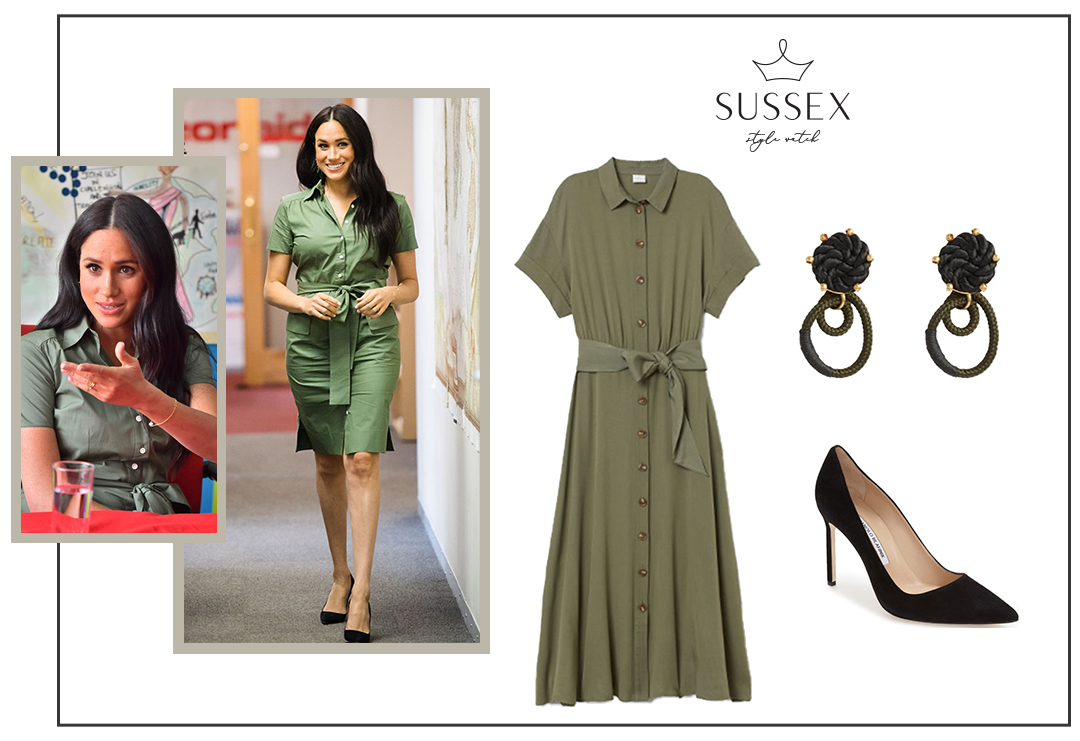 MEGHAN MARKLE WEARS ROOM 502 SHIRTDRESS TO VISIT ACTIONAID
