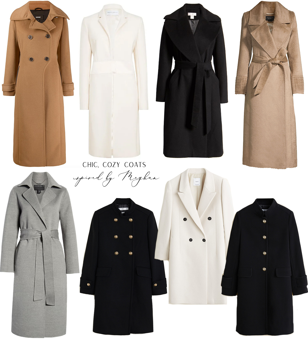 MEGHAN MARKLE'S FAVORITE COATS AND OUTERWEAR // INSPIRED BY MEGHAN