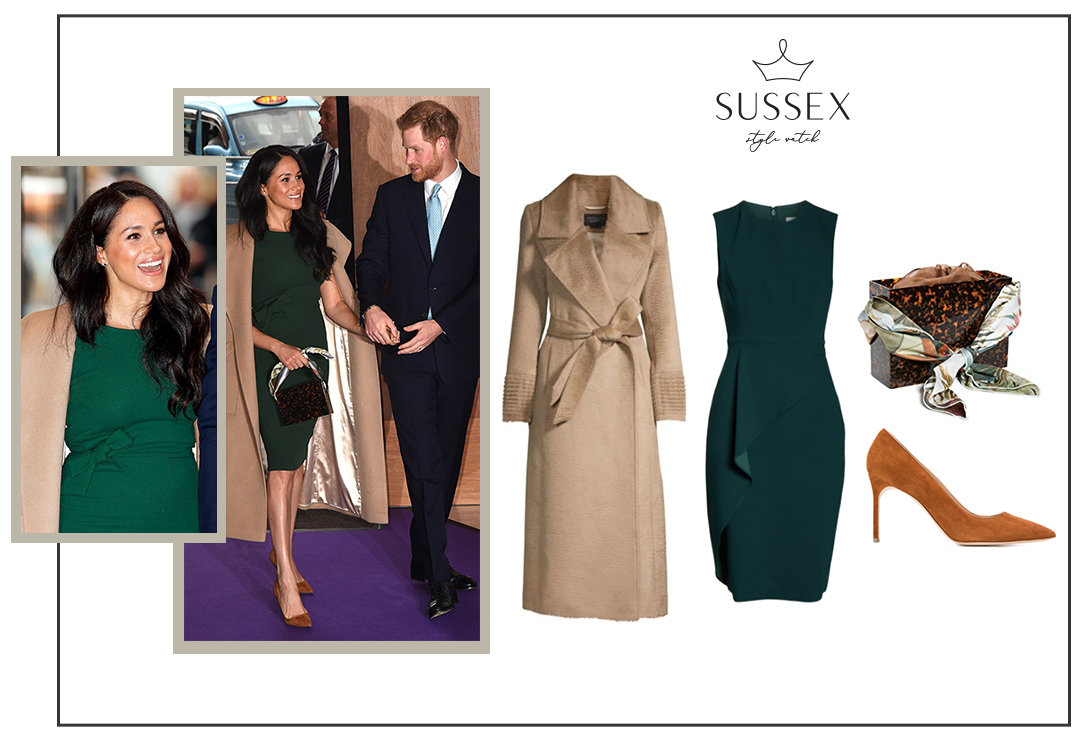 MEGHAN MARKLE REWEARS PAROSH ENGAGEMENT DRESS AND SENTALER COAT TO WELLCHILD AWARDS 2019