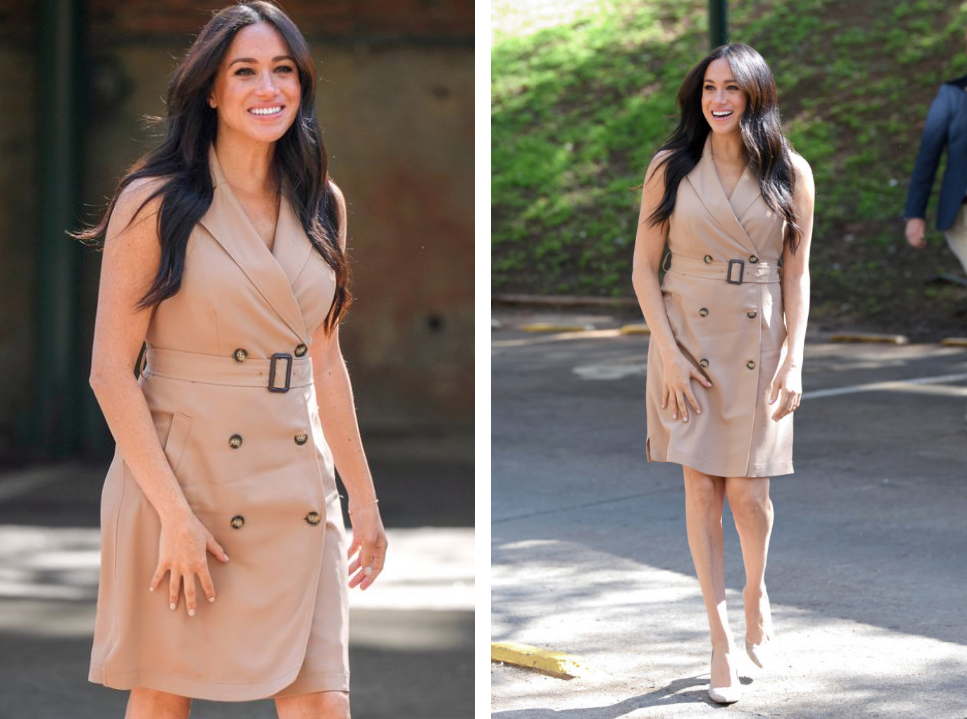 MEGHAN MARKLE'S BUDGET FRIENDLY BANANA REPUBLIC TRENCH DRESS IS BACK IN STOCK