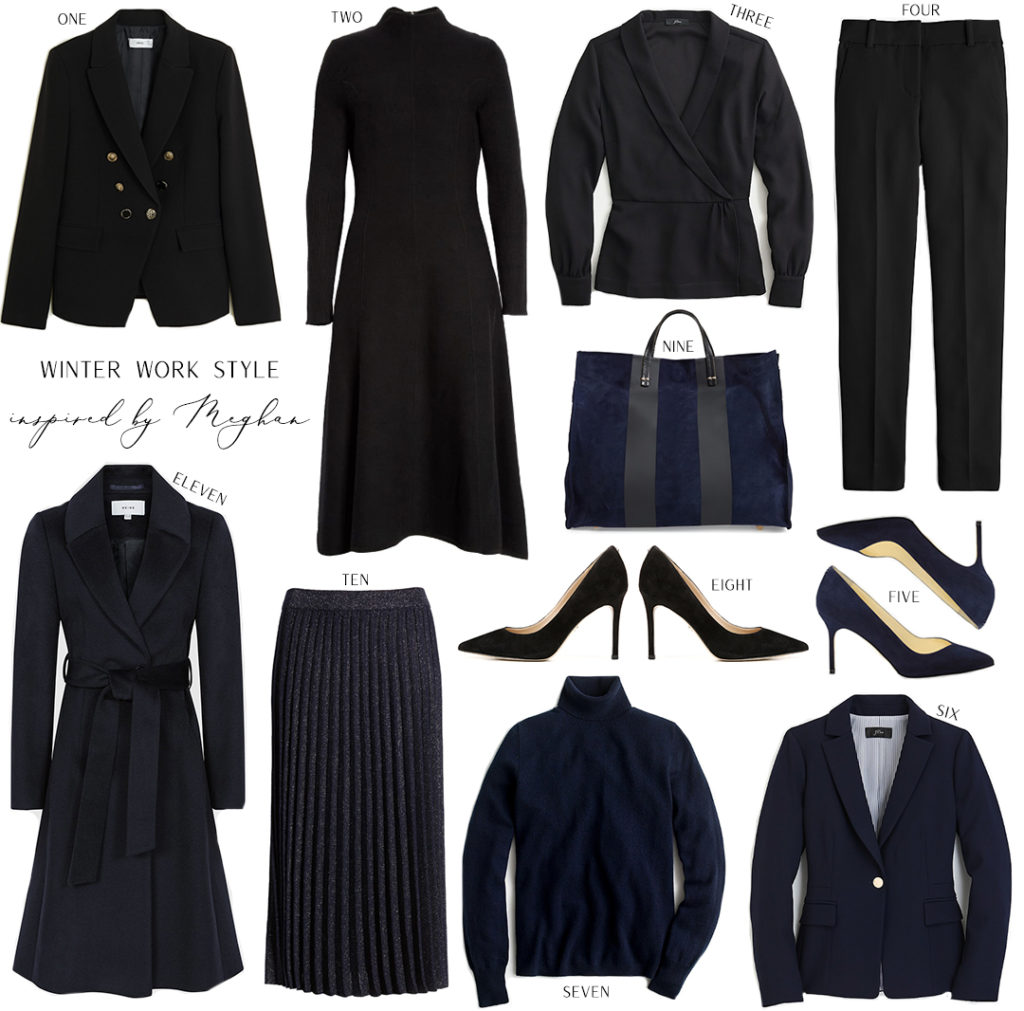WINTER WORK WARDROBE INSPIRED BY MEGHAN MARKLE