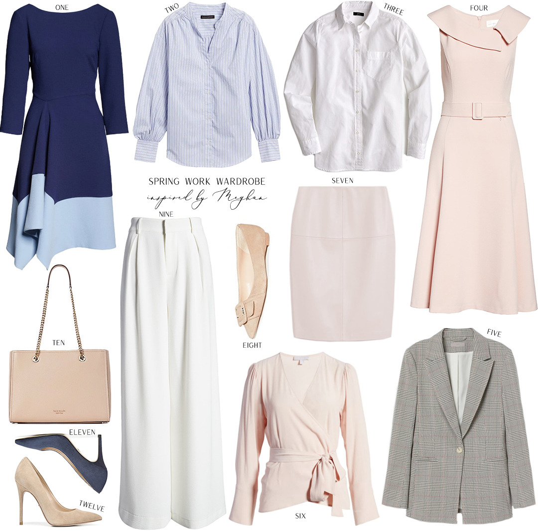 SPRING WORK WARDROBE INSPIRED BY MEGHAN MARKLE