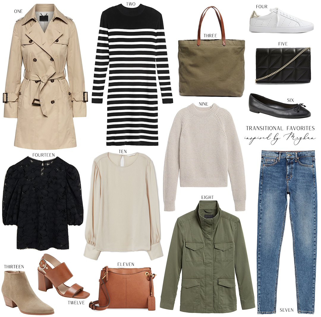 TRANSITIONAL STYLE FAVORITES INSPIRED BY MEGHAN MARKLE