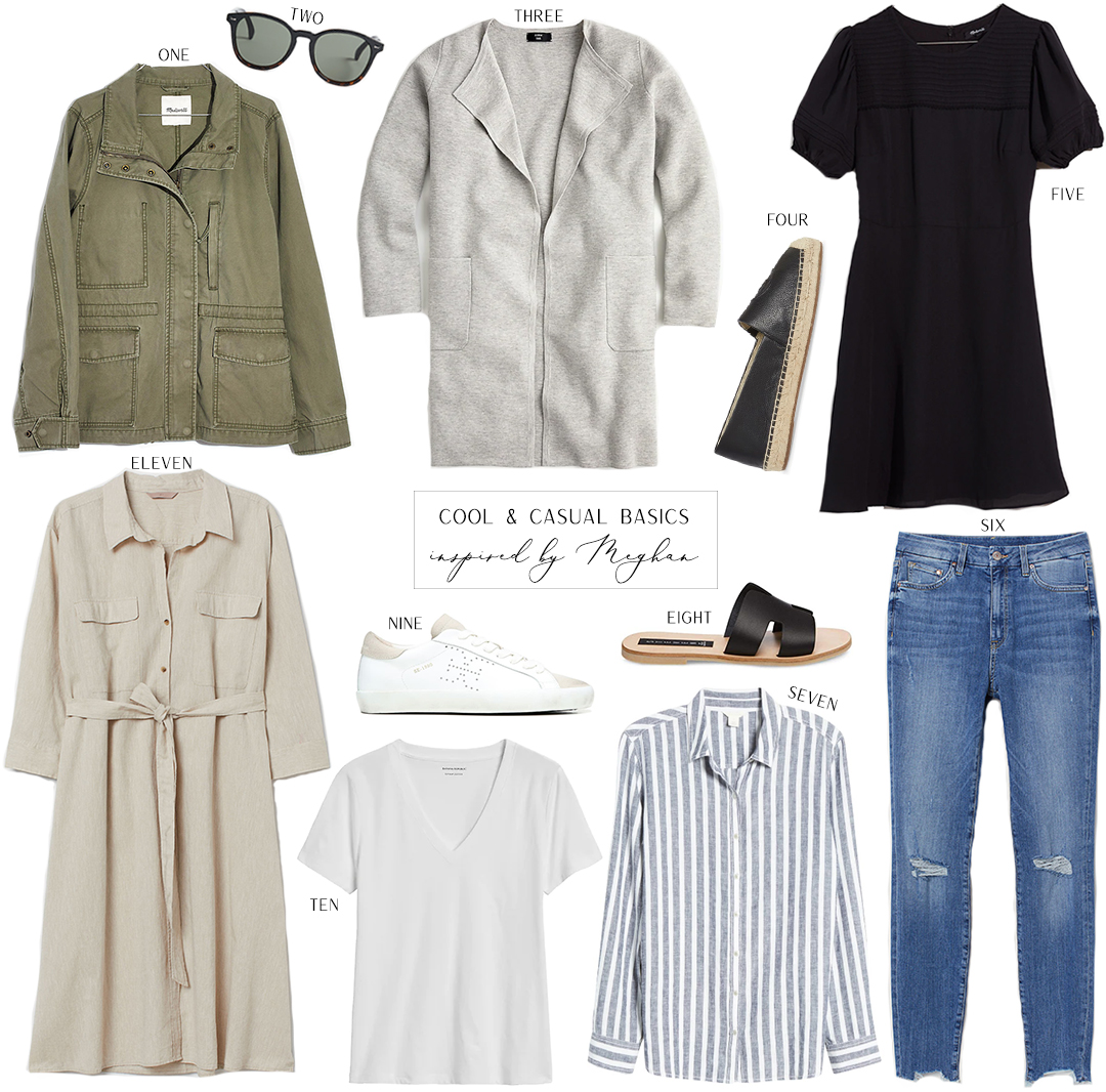 COOL CASUAL BASICS INSPIRED BY MEGHAN MARKLE