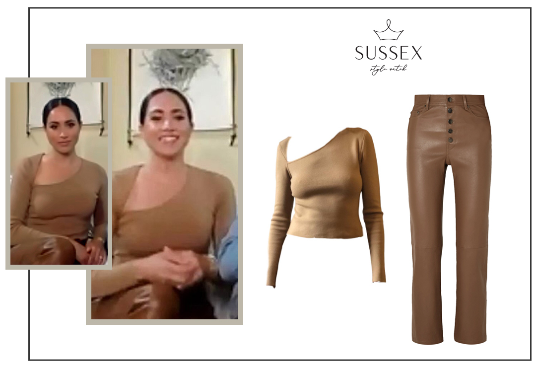MEGHAN MARKLE WEARS VICTOR GLEMAUD 'SLASH' KNIT TOP FOR INTERVIEW WITH EVENING STANDARD
