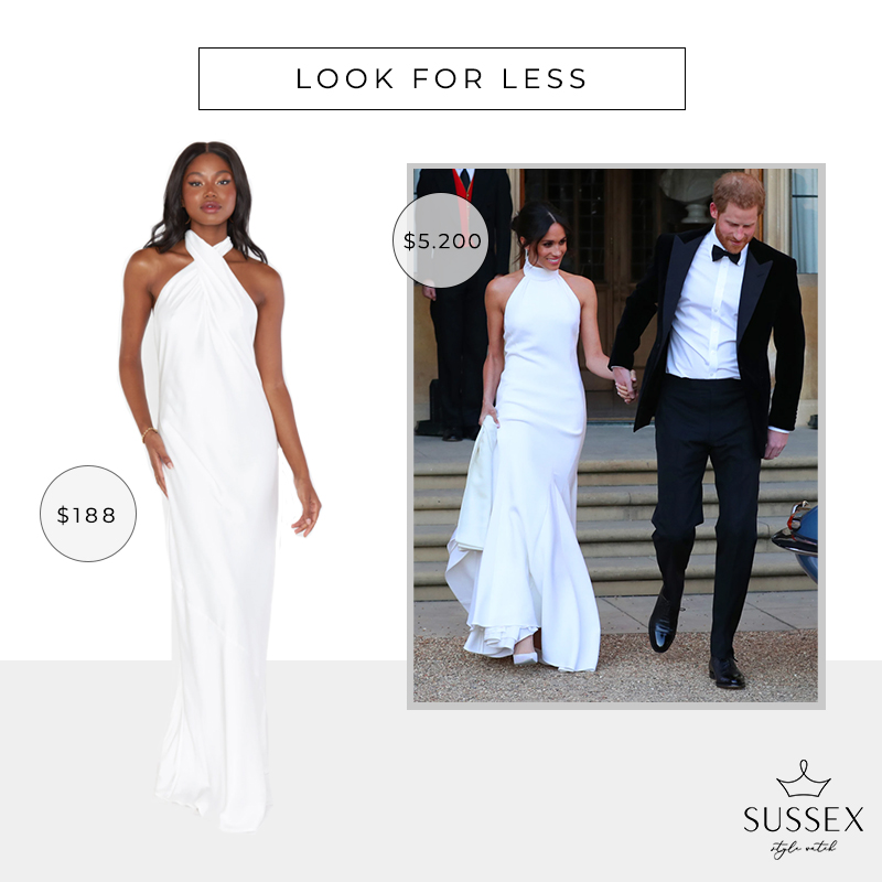 LOOK FOR LESS: MEGHAN MARKLE'S STELLA MCCARTNEY WEDDING RECEPTION GOWN
