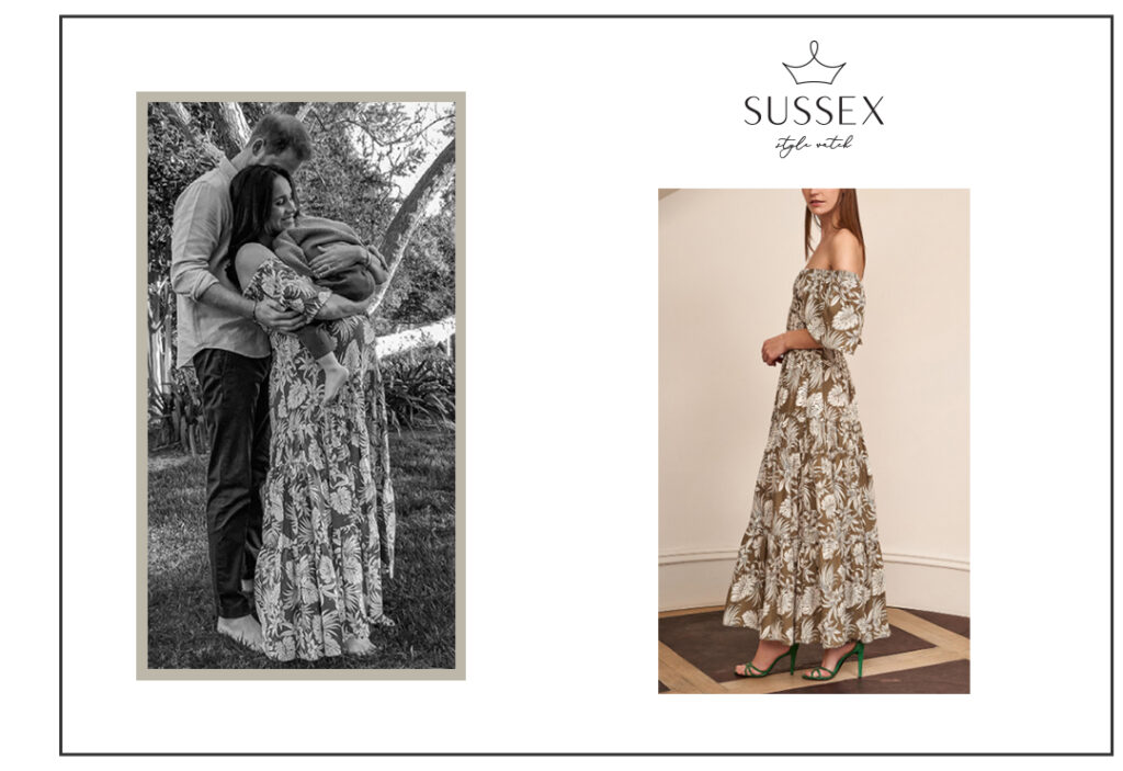 MEGHAN MARKLE WEARS LA LIGNE PYPER PRINTED MAXI DRESS IN IMAGE RELEASED ON INTERNATIONAL WOMEN'S DAY