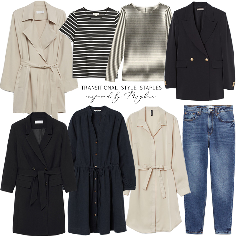 TRANSITIONAL STYLE STAPLES INSPIRED BY MEGHAN MARKLE