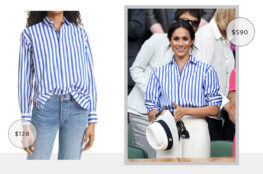 MEGHAN MARKLE'S RALPH LAUREN STRIPED SHIRT LOOK FOR LESS