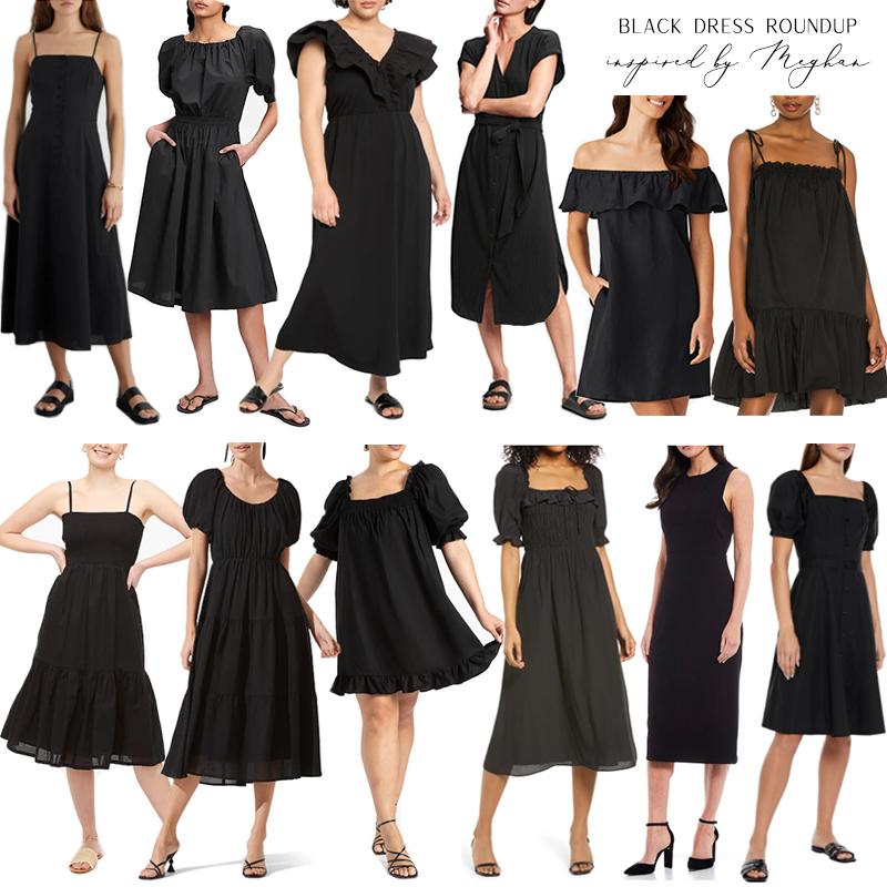 BLACK DRESSES INSPIRED BY MEGHAN MARKLE